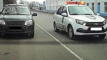 В Брянске оштрафовали водителяавтомобиля ЧОПа за букет нарушений