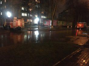В Брянске к общежитиям БГТУ прибыли пожарные