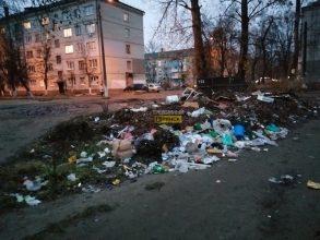 В Брянске в мусоре утонула детская площадка на «Мечте»
