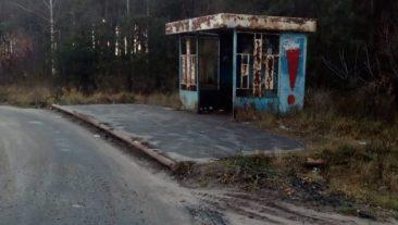 Жители Клинцов показали разваливающуюся остановку