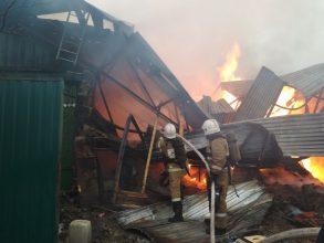В Брянске на улице 2-я Мичурина сгорели дом и гараж