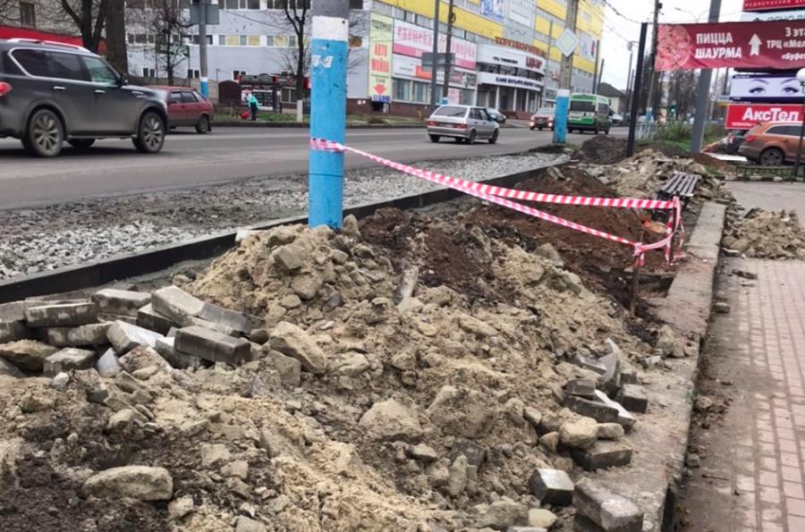 В Брянске продолжается расширение улицы Красноармейской