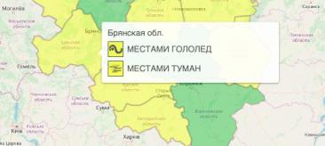 На Брянщине из-за тумана объявили жёлтый уровень опасности