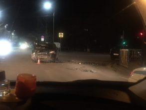 В Брянске на Новом городке ночью произошла серьезная авария