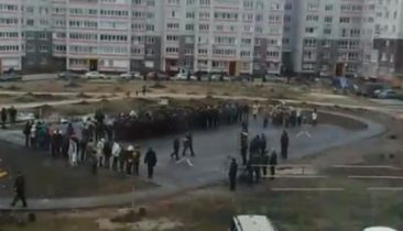 Полицейские высадили аллею памяти на Романа Брянского