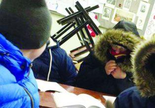 В брянском поселке Добрунь замерзают ученики лицея №1