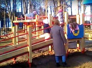 В поселке Локоть завершается благоустройство парка