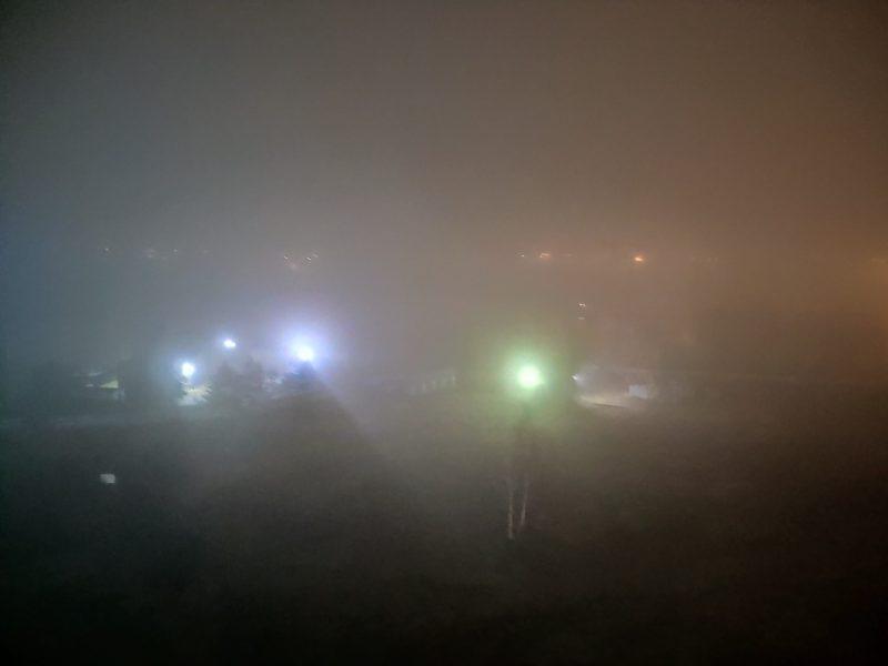 Брянск окутал густой туман