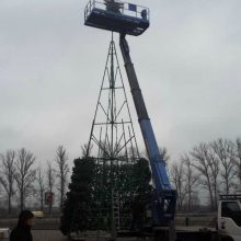 В Брянске началась установка елки возле ТРЦ «Аэропарк»