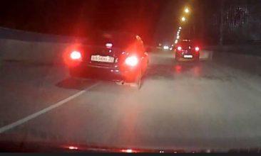 В Брянске сняли на фото очередного лихача на Речной