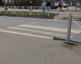 В Брянске стерлась разметка на улице Костычева