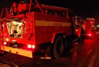 Под Новозыбковом ночью полчаса тушили пожар