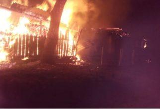 Под Жуковкой огонь уничтожил жилой дом и сарай