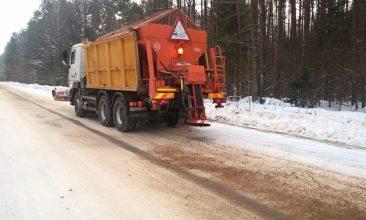 На Брянщине к зиме заготовили 225 тысяч тонн пескосоляных смесей