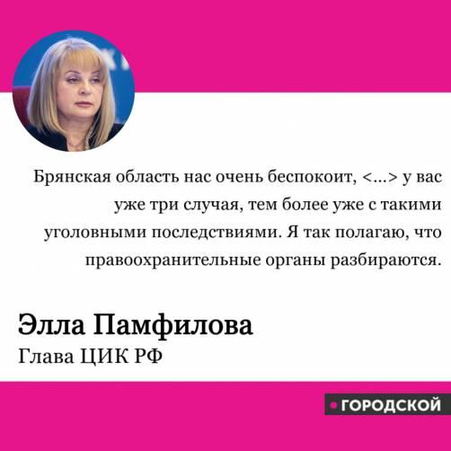 Элла Памфилова недовольна
