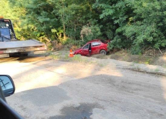 На брянской трассе произошло ДТП на ремонтируемой дороге