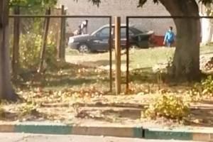 В Клинцах сняли на видео скачки детей на припаркованном авто