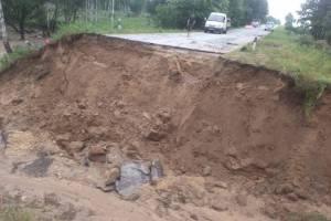 Под Навлей начался ремонт уничтоженной ураганом дороги
