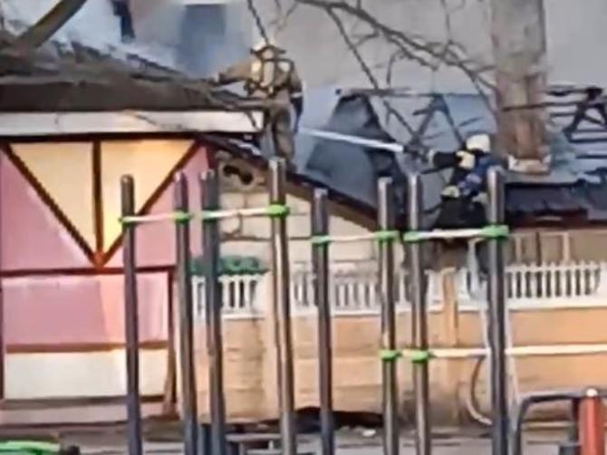 На тушение огня в Майском парке Брянска прибыли пожарные