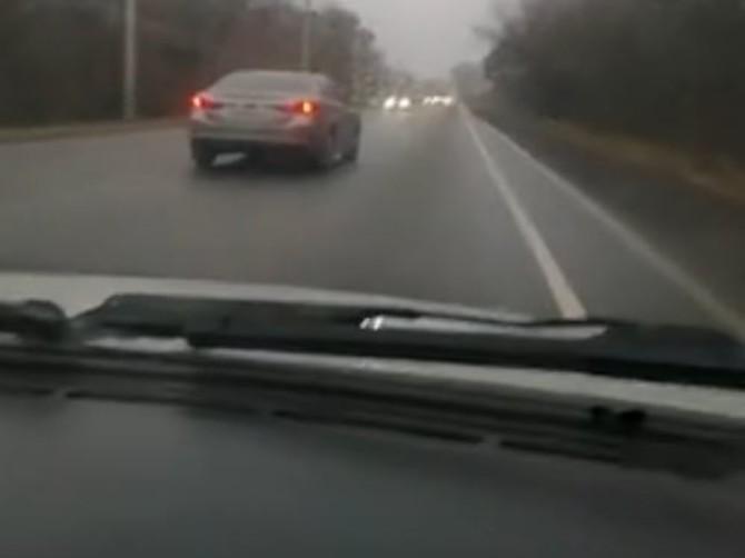 В Брянске на Речной сняли на видео очередного «бессмертного»