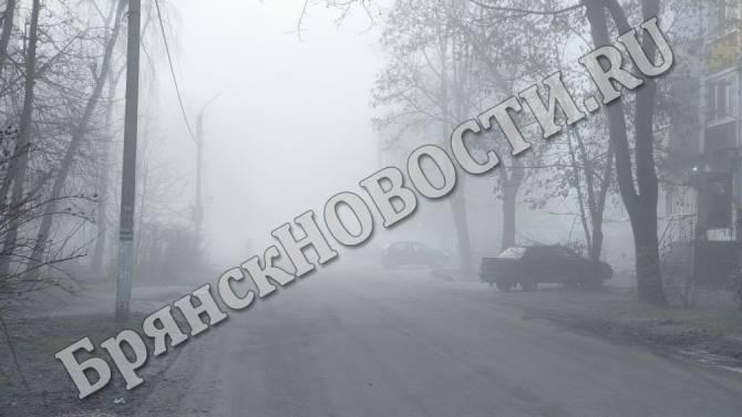 Новозыбков в первый день зимы окутал густой туман
