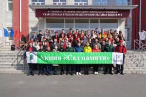 ВСтародубе в память об учителях-фронтовиках заложили «Сад памяти»