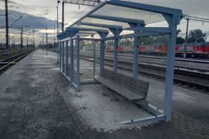 На платформах вокзала «Брянск-Орловский» появились крытые остановки