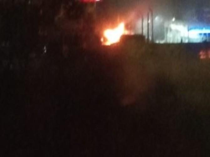 В Брянске произошел пожар на автомойке