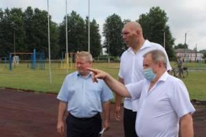 В Новозыбкове ремонт стадиона «Труд» завершат к сентябрю