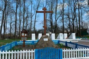 В брянском селе Замишево к 9 Мая благоустроили воинский мемориал