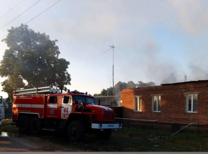 Под Стародубом сгорел жилой дом