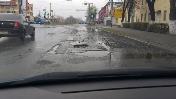 В Брянске сразу после ремонта развалилась дорога на Станке Димитрова