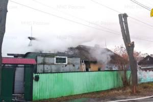 В Брянске на переулке Тельмана сгорел жилой дом