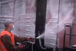В Брянске продезинфицировали электрички безвредным раствором
