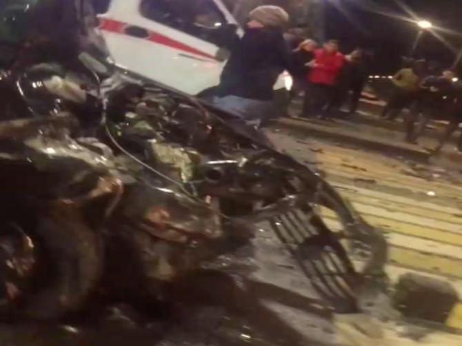 Опубликовано видео жуткого ДТП на Кургане Бессмертия в Брянске