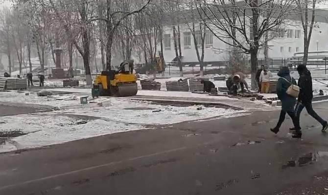 В Жуковке дороги решили превратить в подснежники
