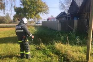 Брянские спасатели вышли на борьбу с сухой травой