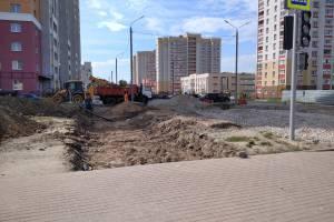 В Брянске продолжается строительство новых дорог