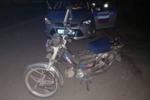 В Новозыбкове поймали 13-летнего мопедиста без прав