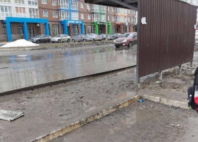 В Брянске грязная остановка на Горбатова приняла первых жертв