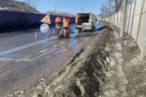 В Брянске подрядчик за свой счет отремонтирует ужасную дорогу на улице Речной