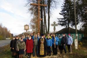 В Мглине освятили поклонный крест