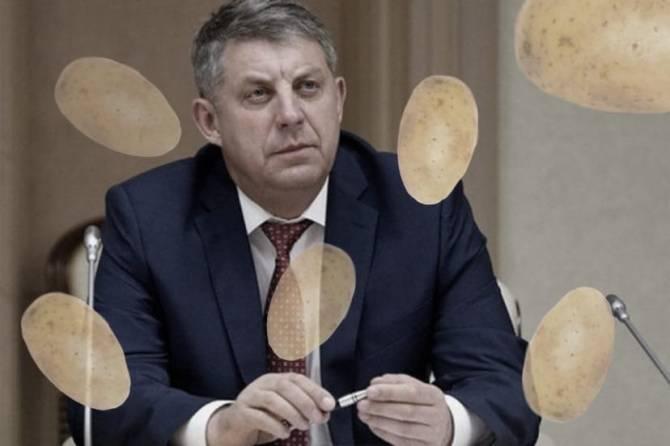 Оговорка по Фрейду: брянский губернатор перед Путиным замечтался о картошке