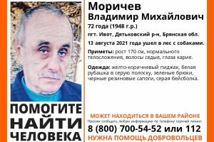 Под Дятьково пропал с собаками 72-летний Владимир Моричев