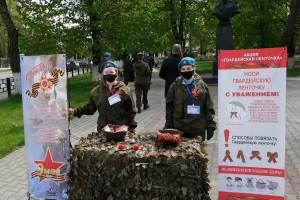 В Новозыбкове провели ликбез по ношению георгиевских ленточек