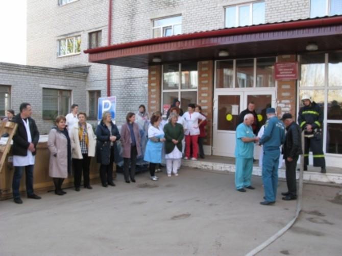 В Сураже из-за пожара эвакуировали больницу