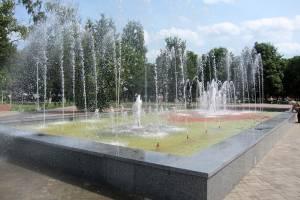 В Брянске в обновлённом Плетарском сквере запустили фонтан