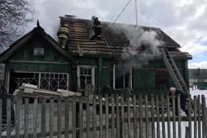 Жилой дом сгорел на улице Ленинградской города Жуковка