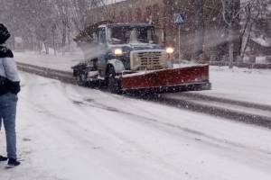 В Брянске коммунальщики вышли на борьбу со снегом