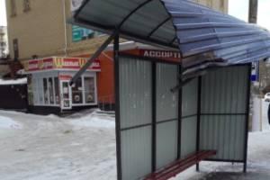 В Брянске на улице 22-го съезда КПСС автомобиль влетел в остановку